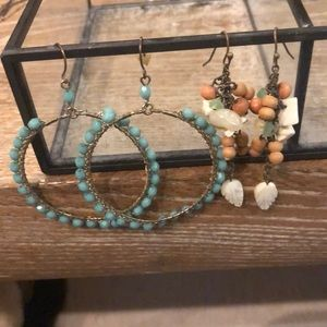 Jewelry - 2 pairs statement earrings